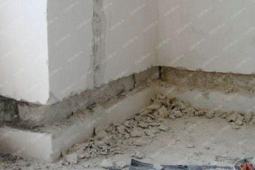 Штробление бетона под трубы